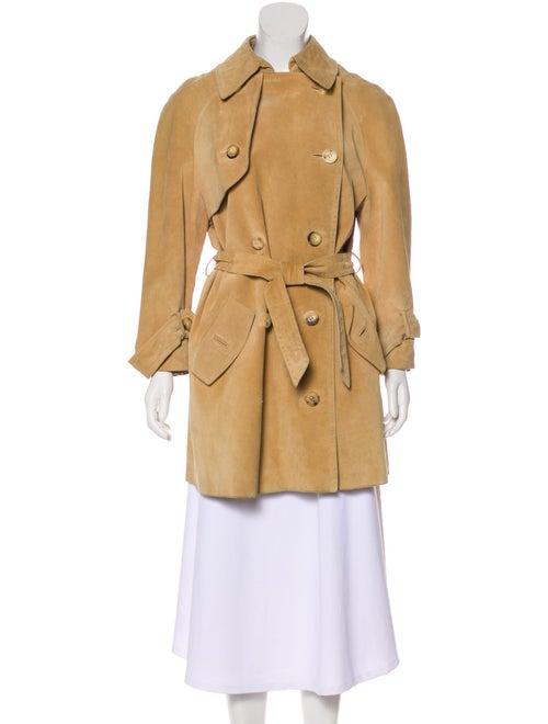 Hermès Belted Knee-Length Coat Tan