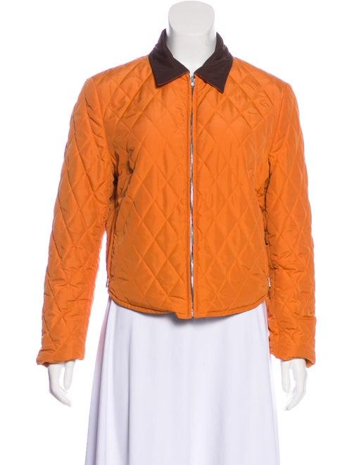 Hermès Quilted Down Jacket Orange