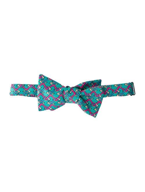 Hermès Silk Bow Tie aqua