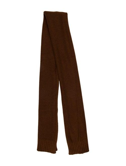 Hermès Vintage Knit Shawl Brown