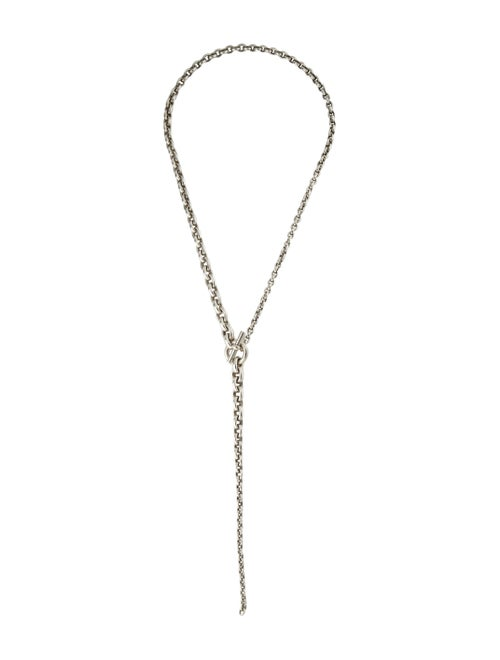 Hermès Crescendo Lavalier Necklace silver