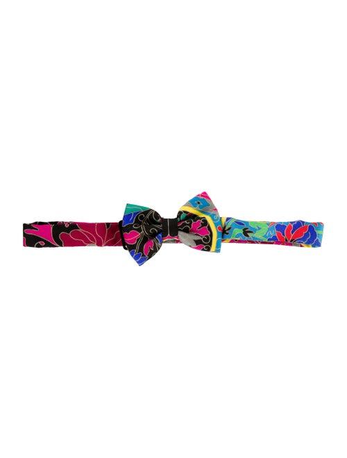 Hermès Silk Abstract Bow-Tie black