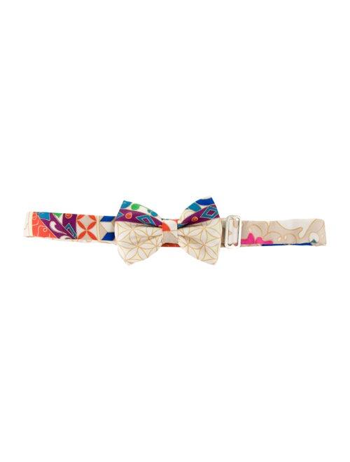 Hermès Silk Abstract Bow Tie tan