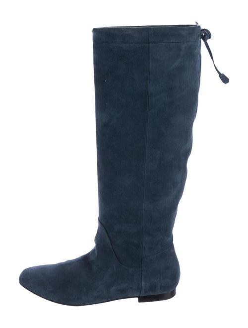 Hermès Suede Knee-High Boots