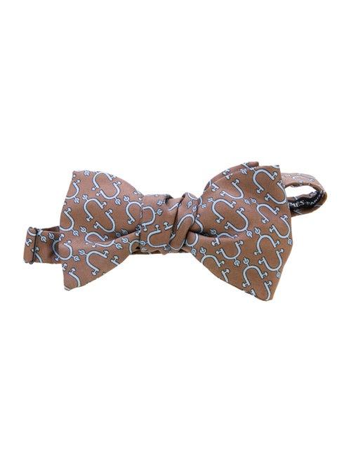 Hermès Silk Bow Tie brown