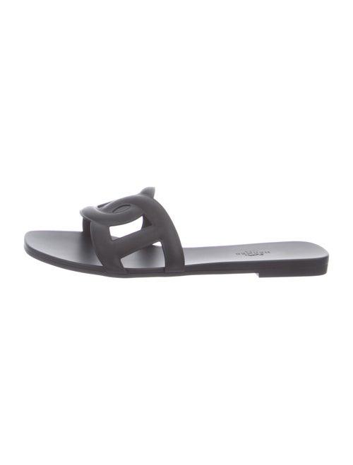 Hermès Aloha Slides Black