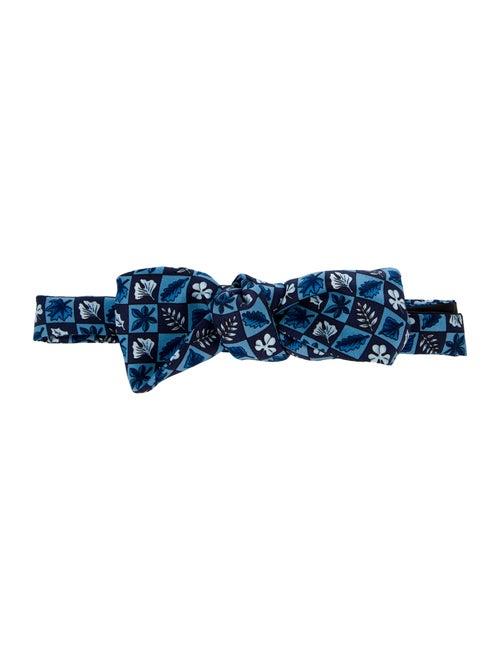 Hermès Silk Bow Tie blue