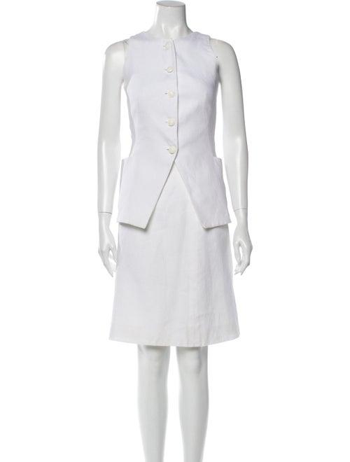 Hermès Vintage Linen Skirt Set White - image 1