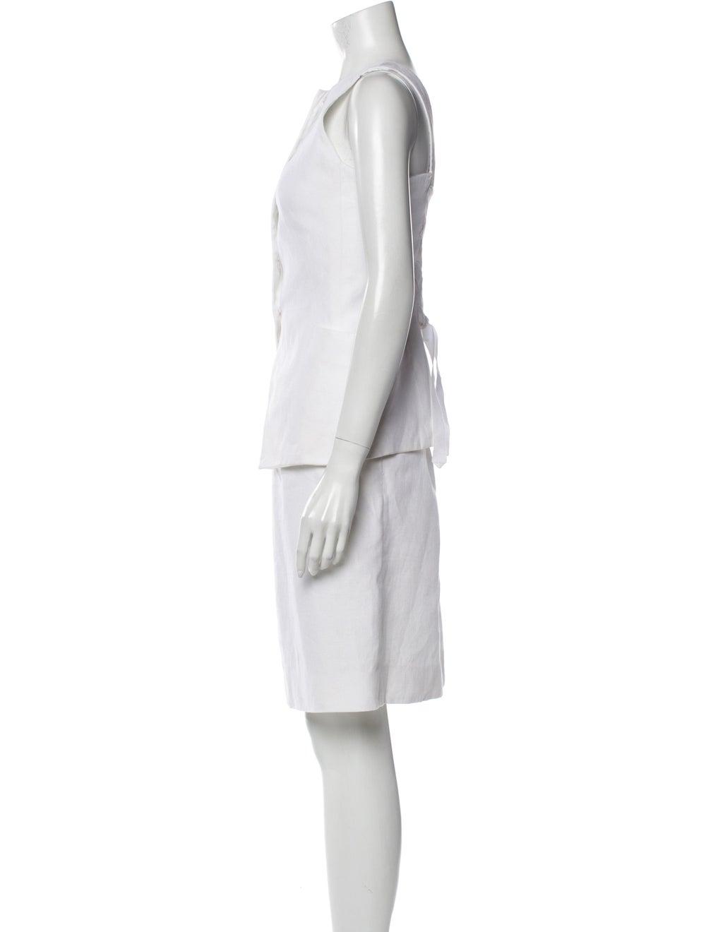 Hermès Vintage Linen Skirt Set White - image 2