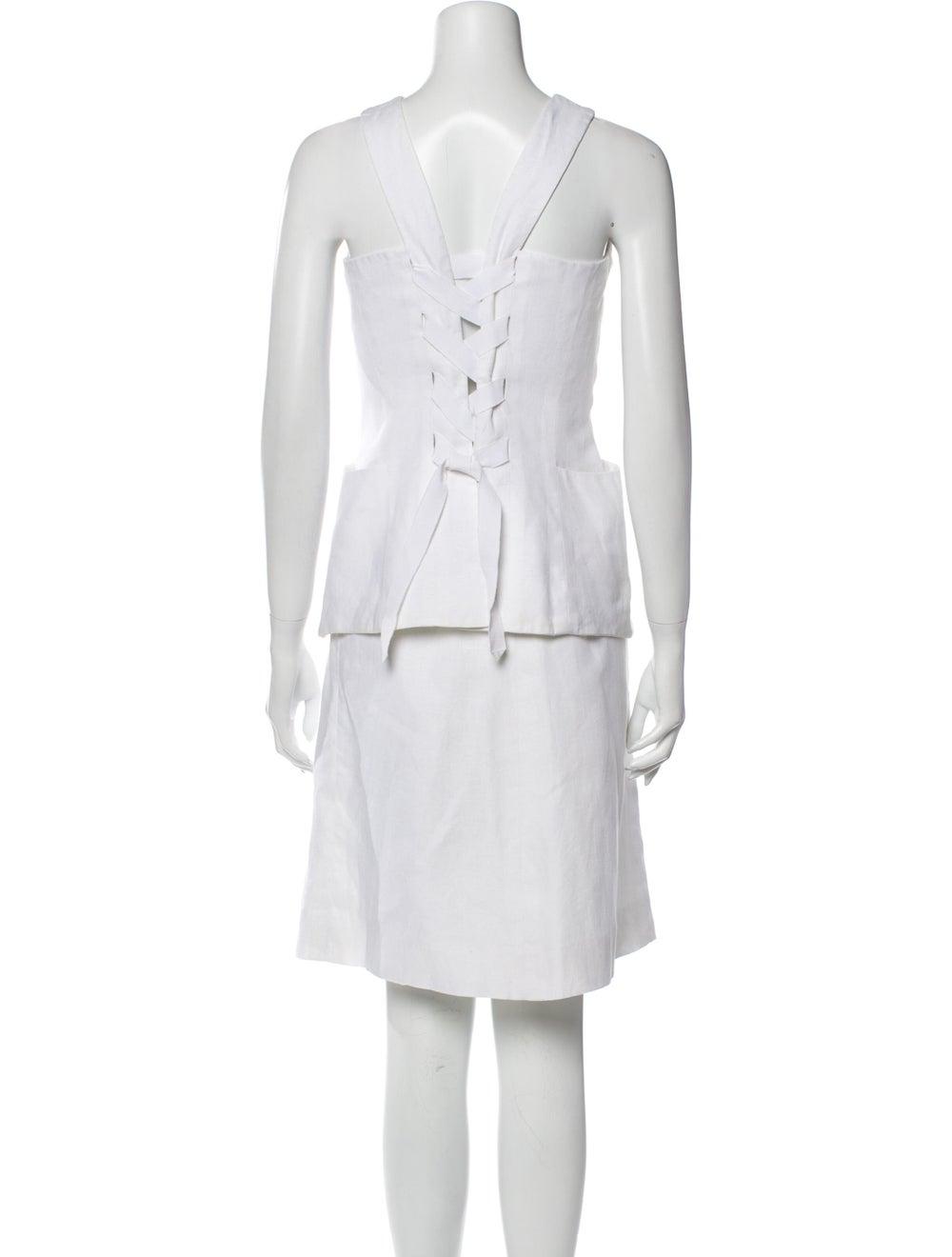 Hermès Vintage Linen Skirt Set White - image 3