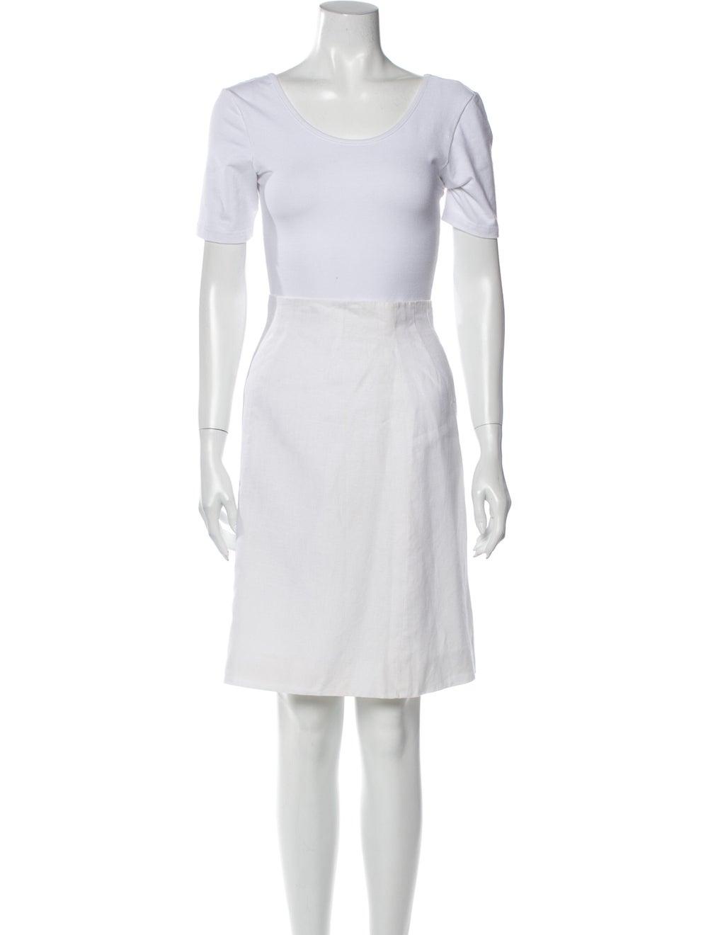 Hermès Vintage Linen Skirt Set White - image 4