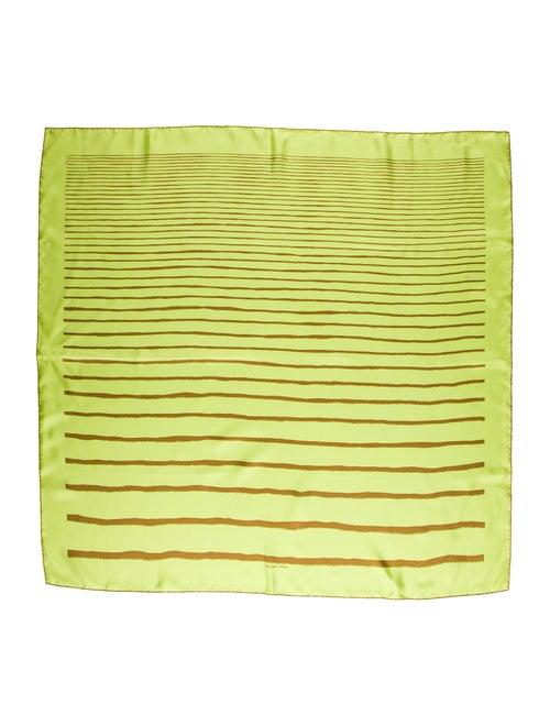 Hermès Méditerranée Silk Scarf Chartreuse