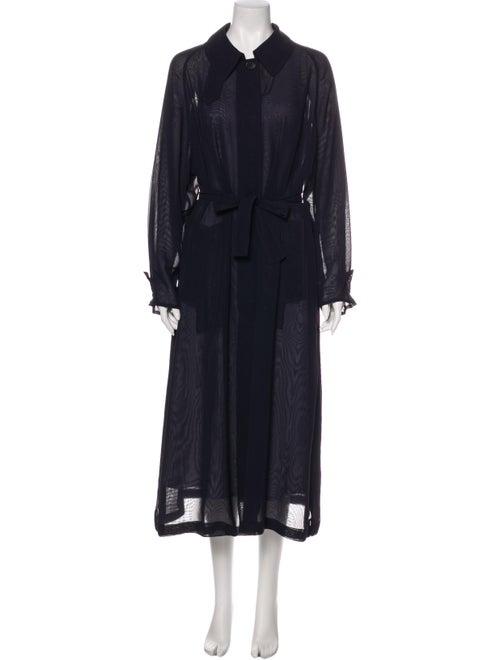 Hermès Trench Coat Blue