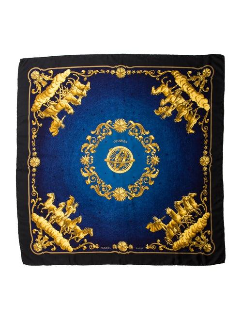 Hermès Cosmos Silk Scarf Black