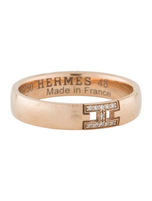 Hermès 18K Diamond Hercules Ring rose