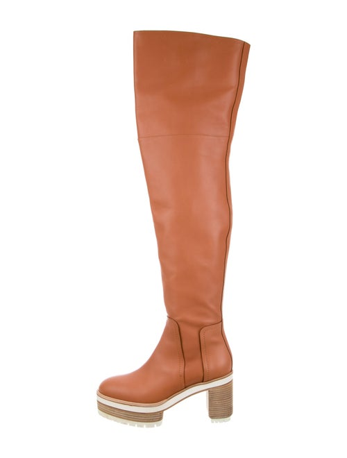 Hermès Leather Boots Pink