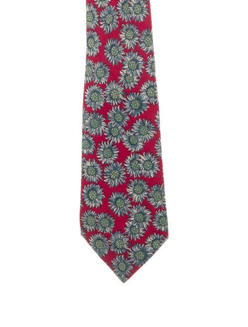 Hermès Floral Silk Tie