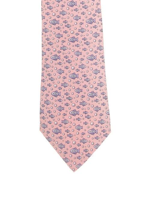 Hermès Printed Silk Tie pink