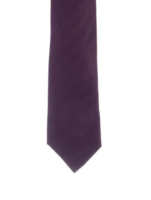 Hermès Woven Silk Tie violet