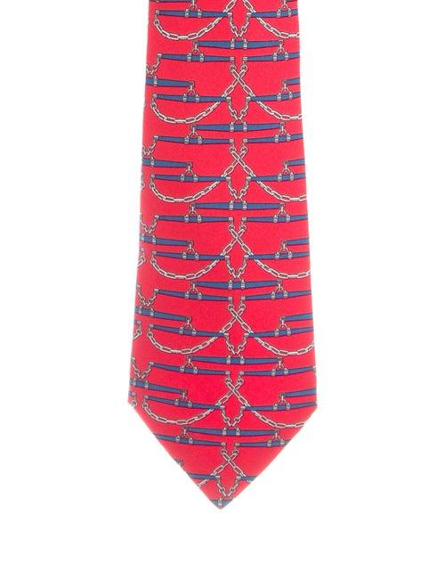 Hermès Silk Patterned Tie multicolor
