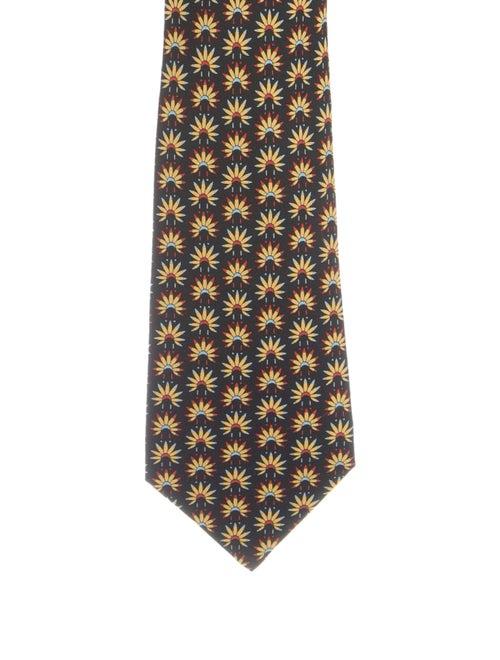 Hermès Silk Printed Tie black