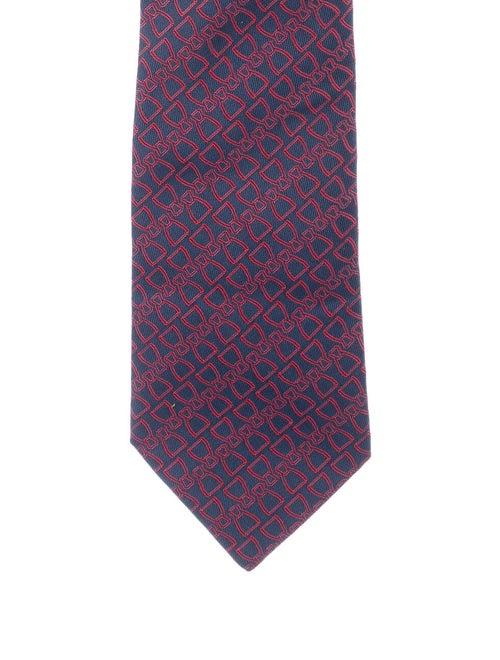 Hermès Silk Woven Tie red