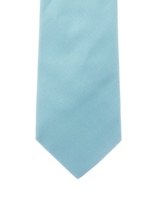 Hermès Silk Woven Tie blue