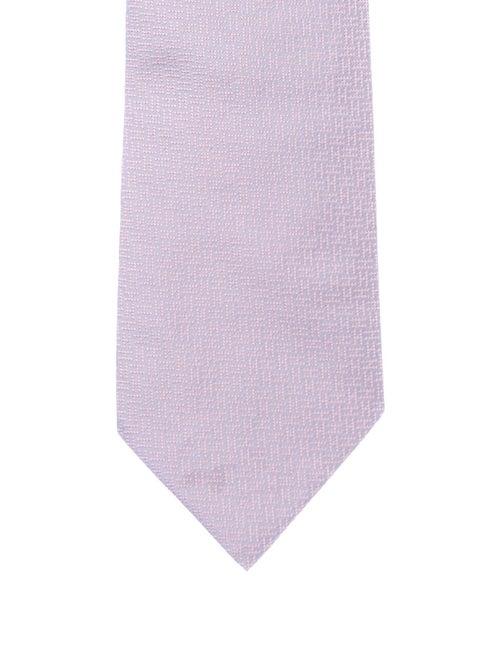 Hermès Silk Patterned Tie purple