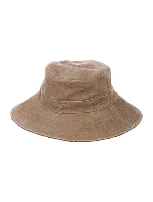 Hermès Suede Cashmere Bucket Hat Tan