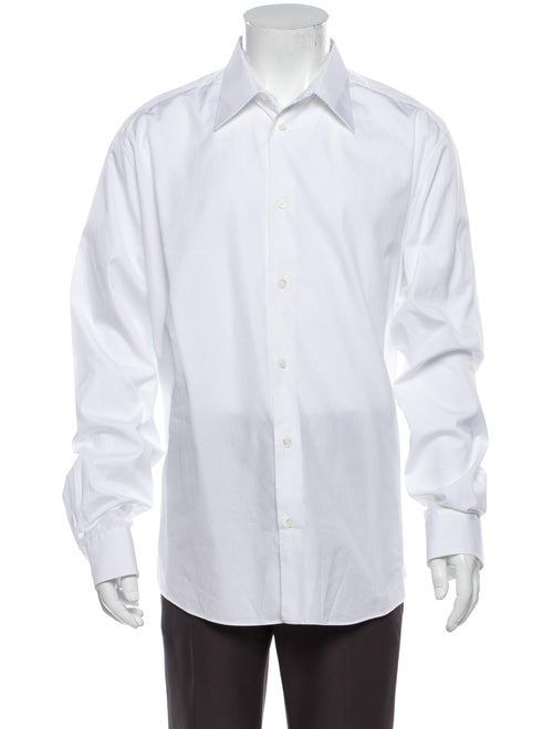 Hermès Long Sleeve Dress Shirt White