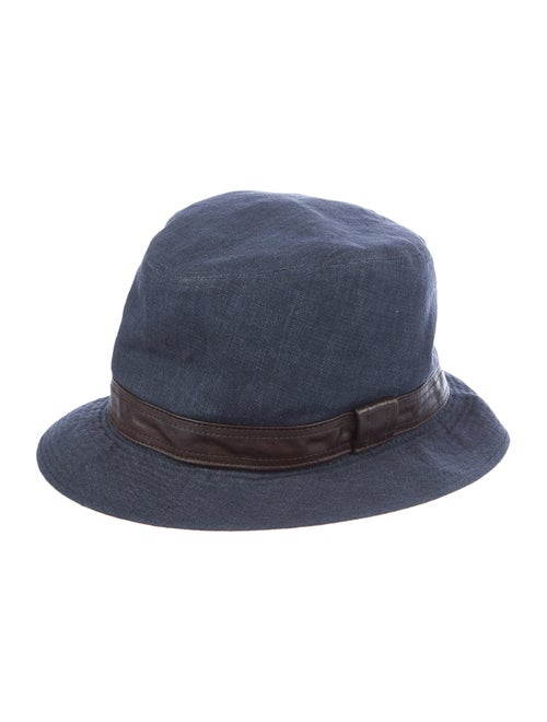 Hermès Denim Homburg Hat blue