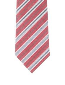 Hermès Striped Woven Tie