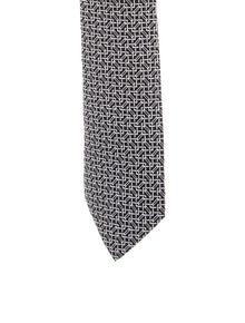 Hermès Printed Silk Tie
