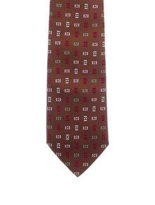 Hermès Patterned Silk Tie