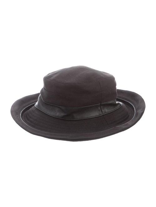 Hermès Leather-Trimmed Bucket Hat Black