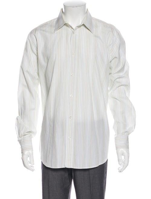 Hermès Striped Long Sleeve Dress Shirt Yellow