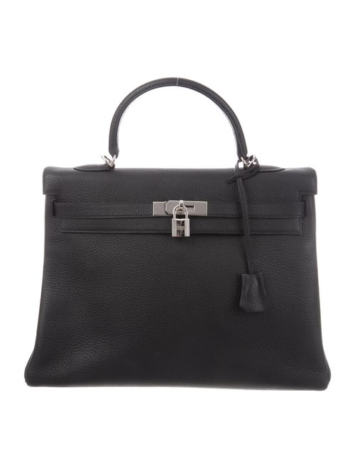 Hermès Vintage Togo Kelly 35 Noir