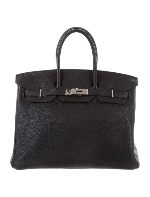 Hermès Clemence Birkin 35 Noir
