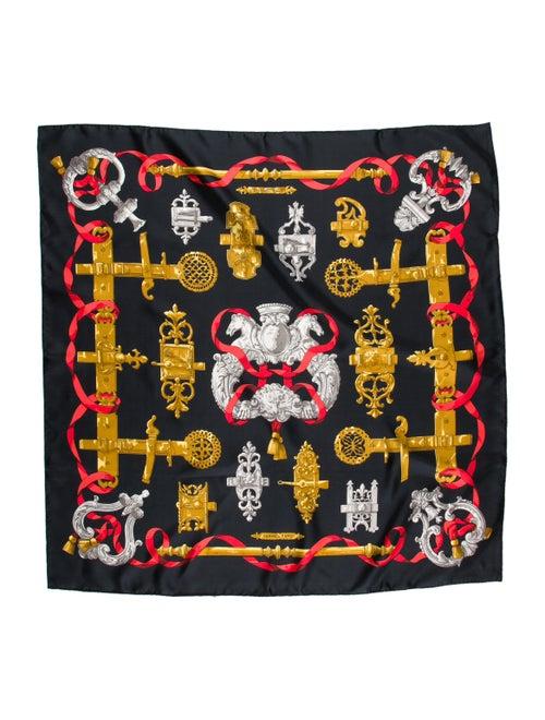 Hermès Ferronnerie Silk Scarf Black