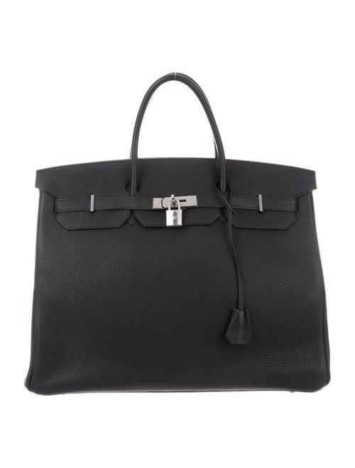 Hermès Clemence Birkin 40 Noir