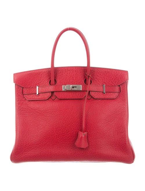 Hermès Buffalo Birkin 35 Rouge