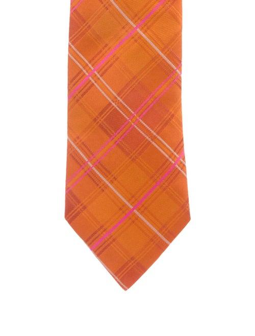 Hermès Silk Woven Tie orange