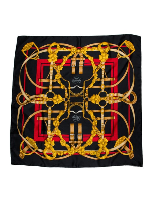 Hermès Grande Manege Silk Scarf Black