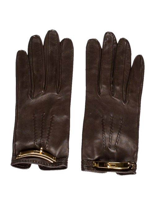 Hermès Vintage Leather Gloves gold