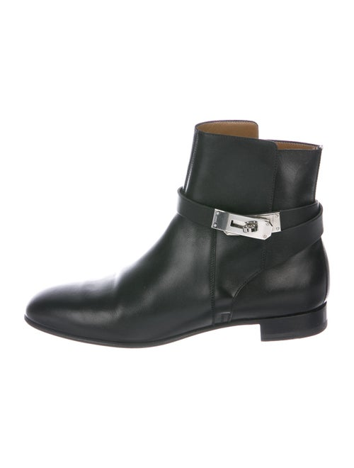 Hermès Neo Ankle Boots Leather Boots Black