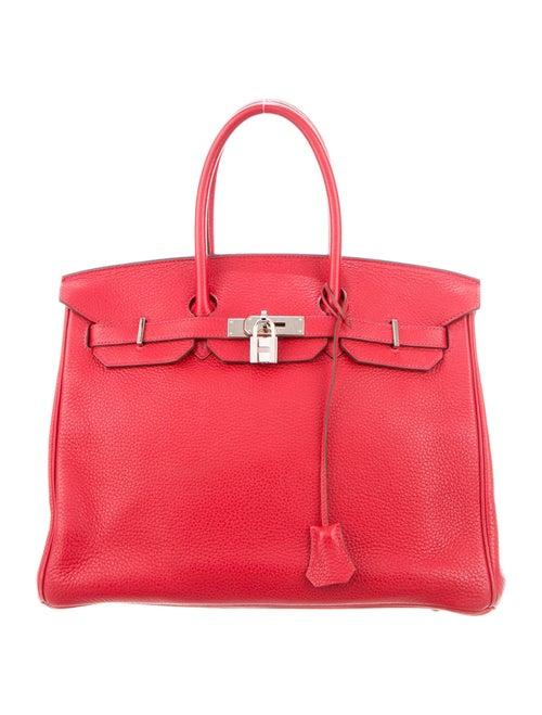 Hermès Clemence Birkin 35 Rouge