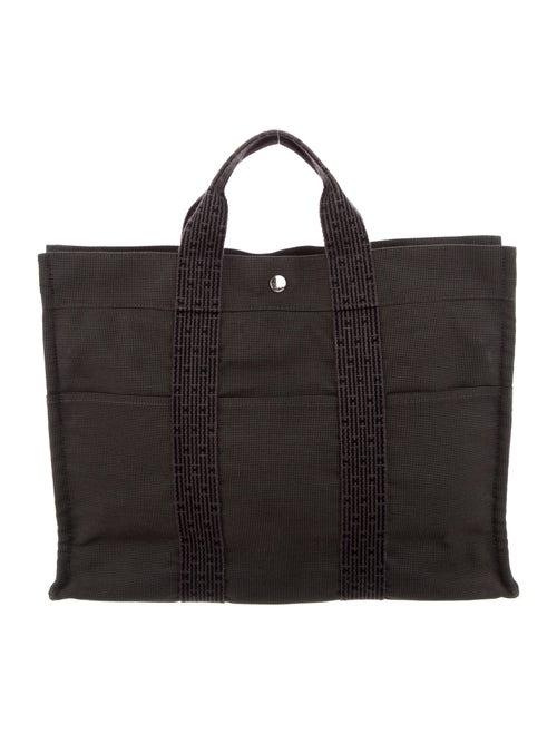 Hermès Toile Herline Cabas Tote black