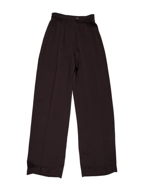 Hermès Wide Leg Pants Brown