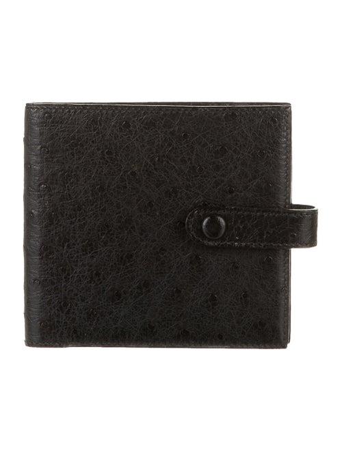 Hermès Vintage Ostrich Wallet Noir