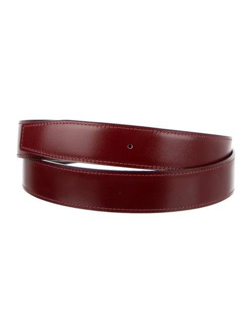 Hermès Reversible 32Mm Belt Strap Rouge